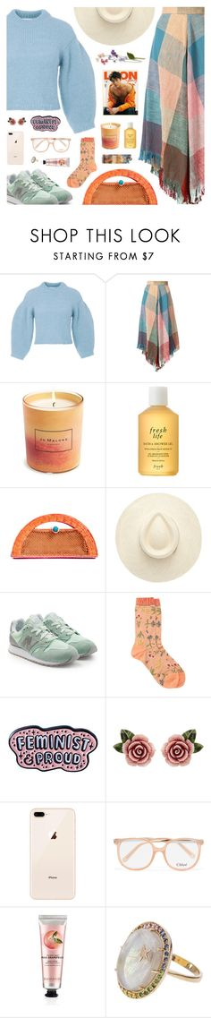"""""""#1179 Young Folks, Peter Bjorn & John"""" by blendasantos ❤ liked on Polyvore featuring TIBI, Chloé, Jo Malone, Fresh, Sophie Anderson, New Balance, Antipast, Punky Pins, Dolce&Gabbana and The Body Shop"""