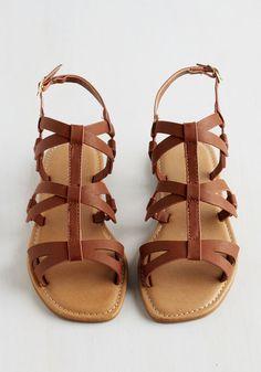 Slingback on Track Sandal | Mod Retro Vintage Sandals | ModCloth.com