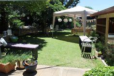 Garden set up.