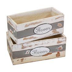 Caja de madera blancas, cajas de madera originales para plantas, lotes de regalos o decoración de bodas. Cajas de madera al mayor.