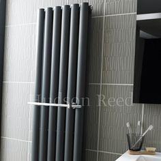 Chrome towel rail handle by Hudson Reed.