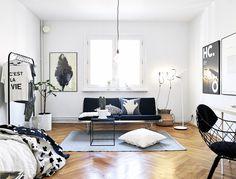Inspiring Homes: Monochrome Stadshem Home | Nordic Days
