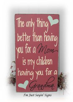 Super diy christmas gifts for mom from daughter signs Ideas Christmas Gifts For Mom, Holiday Crafts, Christmas Diy, Xmas, Mothers Day Crafts, Mother Day Gifts, Fathers Day, Diy Signs, Wood Signs