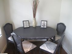 This table and chairs is a lot like the one I have and want to re-do.
