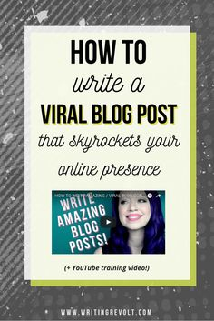 Wanna learn how to write a blog post that skyrockets your online presence and email list? Maybe even a blog post that goes viral? Read this post to learn the method I've used to go viral!   blogger tips   blogging tips   writing tips   content marketing t