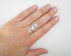 Silver Branch Ring $55.00 #etsy