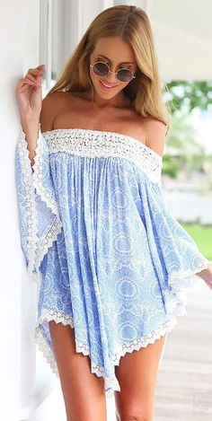 Off shoulder tunic Bikinis One-Piece Tankinis Beach Cover-Ups Beach Towels Capes & Kimonos, dress, clothe, women's fashion, outfit inspiration, pretty clothes, shoes, bags and accessories