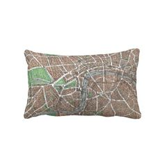 Vintage Map of London (1923) Throw Pillows from Zazzle.com $52.00