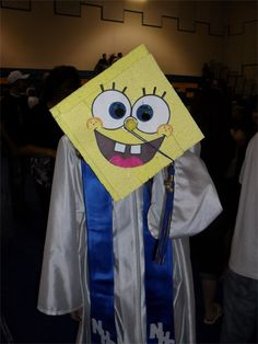 30 Epic Custom Graduation Caps - wish I was graduation from somewhere so I could have the Spongebob one :D