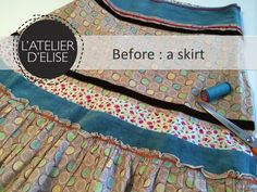 Day 10 – My old skirt becomes a bag for Hélène How To Become, Day, Skirts, Couture Sac, Pouch Bag, Atelier, Skirt, Gowns
