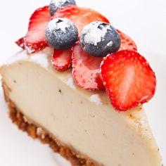 Vanilla Yogurt Cheesecake with Oat Crust