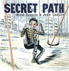 """Secret Path is a ten song album by Gord Downie with a graphic novel by illustrator Jeff Lemire that tells the story of Chanie ""Charlie"" Wenjack, a twelve-year-old boy who died in flight from the Cecilia Jeffrey Indian Residential School fifty years ago. Indian Residential Schools, Indigenous Education, Aboriginal Education, University Of Manitoba, Beste Comics, Grades, Canadian History, Canadian Culture, This Is A Book"