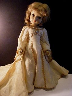 "Rare 17"" 40s MADAME ALEXANDER Doll GOOD FAIRY Green Eyes Vtg Queen Margaret face #MadameAlexandergoodFairy #MadameAlexanderdoll"