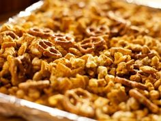 Mercantile Snack Mix Recipe --- Ree packaged these individually.  Great idea that can be made gluten free for gifts & party favors!