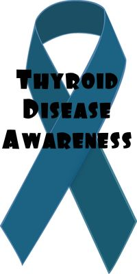 Symbol For Thyroid Disease Awareness A Blue Ribbon Thyroid