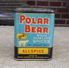 Spice Tin Polar Bear Allspice Griffin Grocery