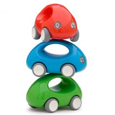 Go Car by KID O – We are in love by the simplicity of this toy. Especially they are offered in Car Saints colors. They are test driven and fun approved by Car Saints babies #BabyToy #Red #Blue #Green #ModernDesign #ProductDesign #ToyCar