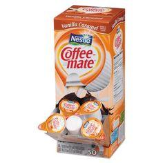 Coffee Mate Vanilla Caramel Liquid Coffee Creamer Singles, Lactose-Free Creamer, Fl Oz, 200 Ct (Case of Sans Lactose, Lactose Free, Sans Gluten, Gluten Free, Vanilla Coffee Creamer, Coffee Cups, Caramel, Non Dairy Creamer, French Vanilla