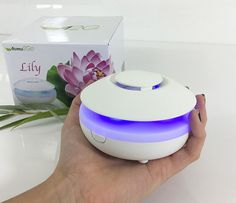 Lily Fan Travel Aromatherapy Diffuser - LED lights, Battery, USB and AC powered - SILENT