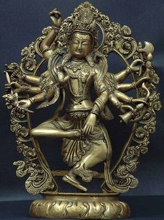 Shiva's Taandava (dance form of cosmic destrution). Brass statue.