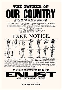 The Father of Our Country by Ryan Hart & co - Art Print The Father of Our Country by Ryan Hart & co - Art Print In 1776 the fathers of our country appealed for soldiers and they came to fight, this poster asks one to take notice and do the same.1917/USA #U.S.Army