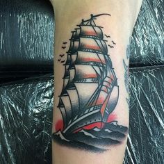 #ship #sailor #tattoo Davide Marazzina - Northampton