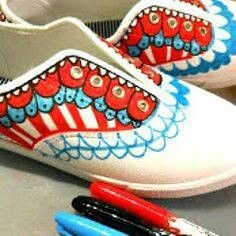 Sharpies to decor shoes