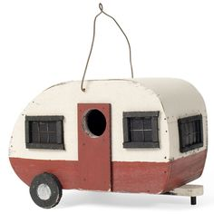 You normally only see birds and caravans together in ancient Carry On films. But now, thanks to this deeply ironic caravan-shaped birdbox, feathered-friends will be able to nest like genuine 70s holidaymakers. The perfect garden accessory for style savvy bird-lovers everywhere. Tweet!
