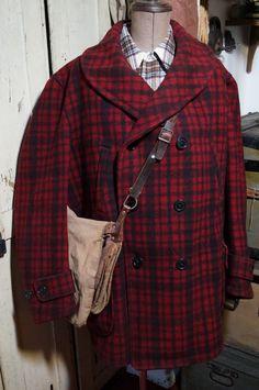 1930'S J.C. Penney Shawl Collar Mackinaw Wool Workwear Jacket