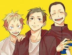 Kinoshita Hisashi, Ennoshita Chikara & Narita Kazuhito - Haikyuu!! / HQ!! >>> I think these 3 and yamaguchi ARE THE REALEST CHARACTERS IN HAIKYUU