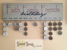 Faith, Family, Friends Birthday Plaque. $20.00, via Etsy.