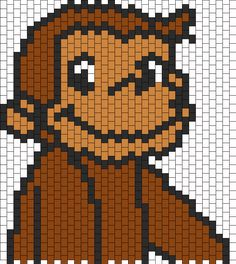 Curious George bead pattern