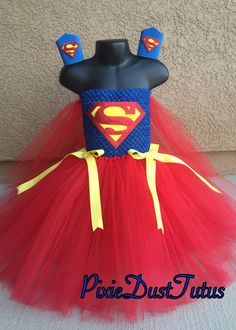 A personal favorite from my Etsy shop https://www.etsy.com/listing/245650170/superman-tutu-dress