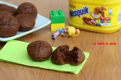Merendine al nesquik Nesquick, Muffins, Italy Food, Snacks, Italian Recipes, Kids Meals, Pudding, Sweets, Cookies