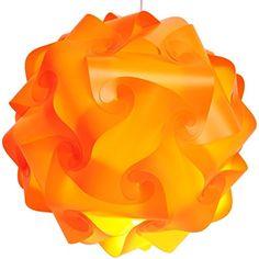 Lightingsky Ceiling Pendant DIY IQ Jigsaw Puzzle Lamp Shade Kit with 15 Feet Hanging Cord (Orange, 40 Centimeters) Lightingsky http://www.amazon.com/dp/B00ZFQM4NU/ref=cm_sw_r_pi_dp_amlJwb1TWX3YN