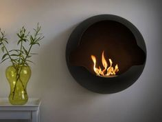 Image detail for -Thе Contemporary Wall-Mounted Fireplace