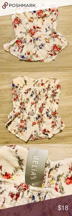 "SOLD/ NOT AVAIL Floral Tube Top Floral Tube Top, new with tags   Length 15"" Width 14"" Tops"