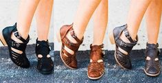 Spring Buckled Booties | 3 Colors! any color, size 8