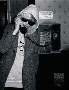 Vogue Paris September 2009, Raquel Zimmermann as Deborah Harry