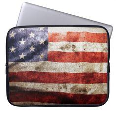 Vintage usa flag american america united states #laptop #laptopsleeve #sleeve #usa #unitedstates #flag #american #america