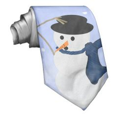 Snowman in the Wind Tie