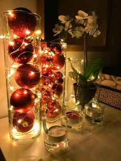 101 Christmas DIY Decorations Easy and Cheap - Xmas Table Decorations, Christmas Decorations For The Home, Rustic Christmas, Christmas Diy, Classy Christmas, Christmas 2019, Christmas Movies, Christmas Stockings, Led Garland