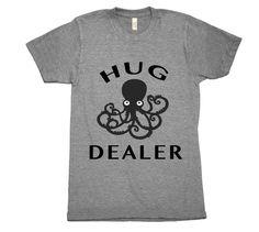 Hug Dealer T-Shirt updated design. Printed on ultra soft and comfy crew neck tee. #hugdealer