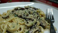 Creamy Mushroom and Marsala Fettuccine with Garlicky Breadcrumb Topping