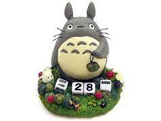 Calendario perpetuo de cerámica Totoro