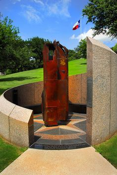 9/11 Memorial, Texas State Cemetery, Austin, Texas (2007) made of I Beams from the World Trade Center