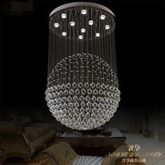 85-265 - v led crystal LAMP creative restaurant droplight of contemporary and contracted bedroom absorb dome light