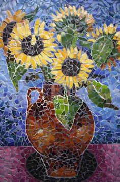 Sunflowers       #mosaic    #flowers