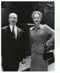Marlene Dietrich and Alfred Hitchcock
