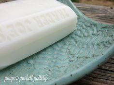 handbuilt ceramic soap dish